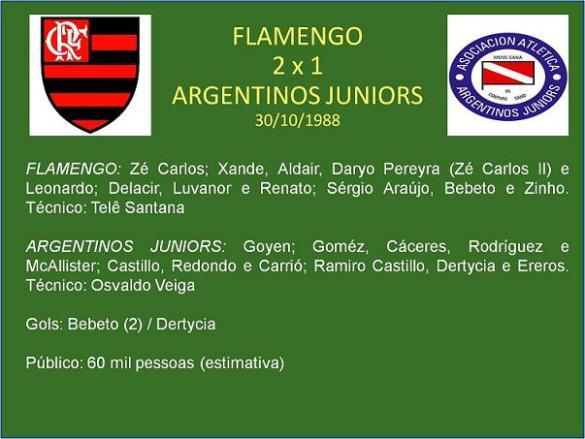 Flamengo foi o primeiro grande do pais a desfilar pelo Estádio